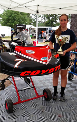 Talia after finishing podium at Carolina Motorsports Park Gold Cup June 2016