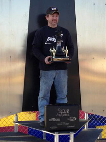 Cassity on top of the New Castle podium after winning the King of the Castle in 2013