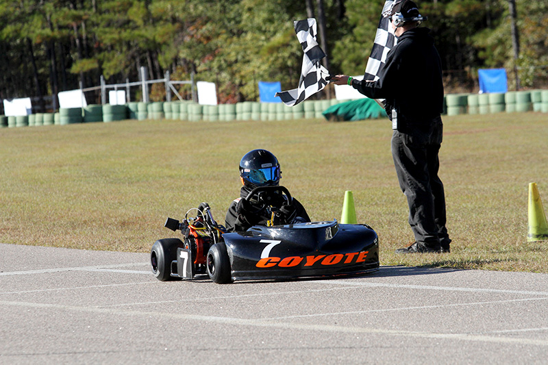 Moe taking the checkered at CMP