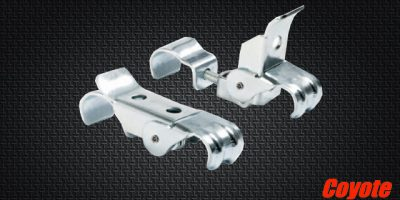 KG STEEL FRONT BUMPER CLAMPS-PAIR