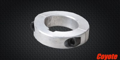 1-1/4″ ALUMINUM TWO PIECE AXLE COLLAR