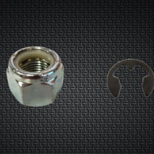 SPINDLE NUT AND E-CLIP