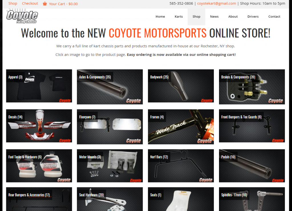 Coyote Karts Online Store