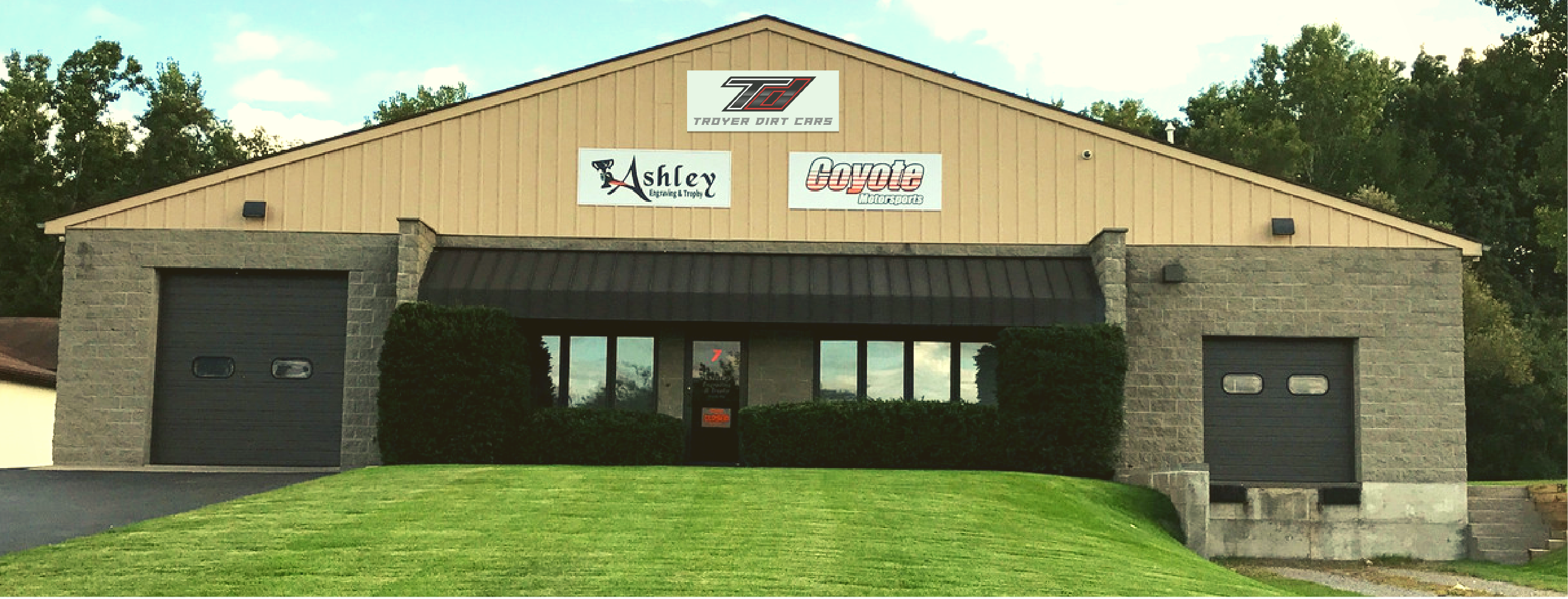 Coyote Motorsports and Troyer Dirt Cars facility in Spencerport, N.Y.