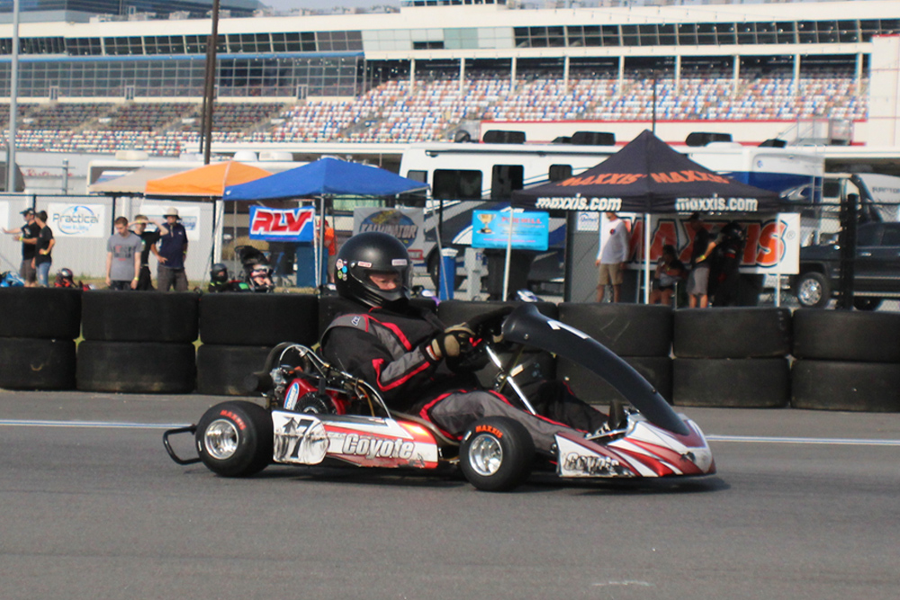 James Inscoe on his Zenith at Charlotte Maxxis (KartLounge.com photo)